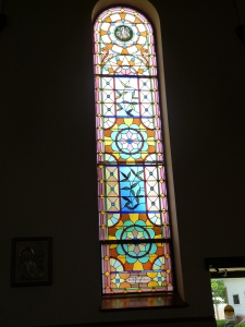 Mr & Mrs Theodore Konzen's Window inside the Holy Cross Catholic Church