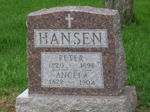 The mysterious Angela Susanna Konzen & her husband Peter Hansen.