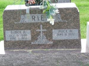 Katherine Konzen & Thomas John Ries's son Elmer.