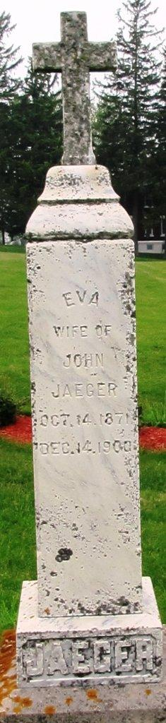 Eva Meyer married John Jaeger and they had two sons together before her death.