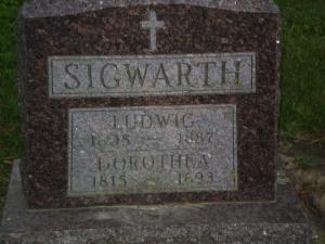Ludwig & Dorothea Sigwarth, parents of Caroline Sigwarth Breitbach.