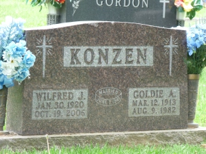 Wilfred Konzen (Great grandson of Theodore Konzen) and his wife Goldie
