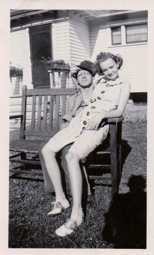 Kermit and Yvonne Konzen, circa 1940.