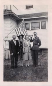 August 1942: John, Kathryn (Kay), Ella, and Karl.