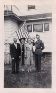 August 1942: John, Kathryn (Kay), Ella, and Karl.